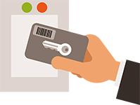 賃貸住宅では認められにくいカードタイプの鍵